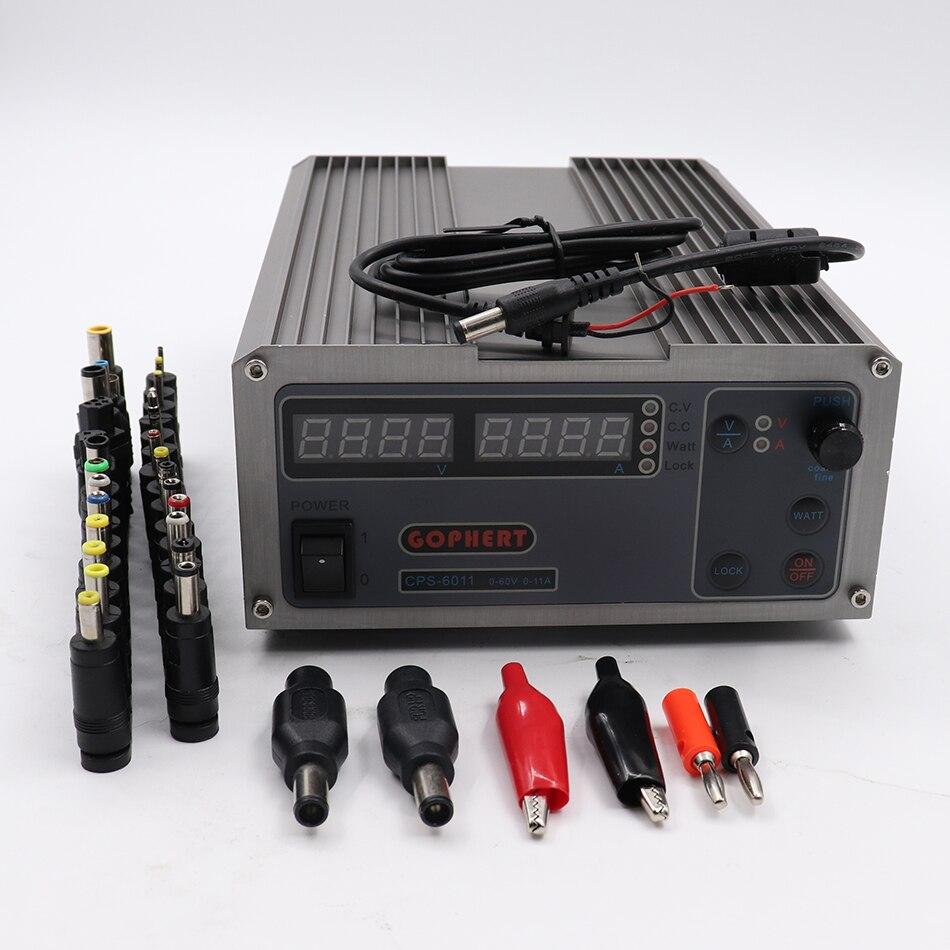 GOPHERT CPS-6011 60 v 11A Numérique Réglable DC Laboratoire alimentation Haute Puissance Compact MCU PFC DC Alimentation