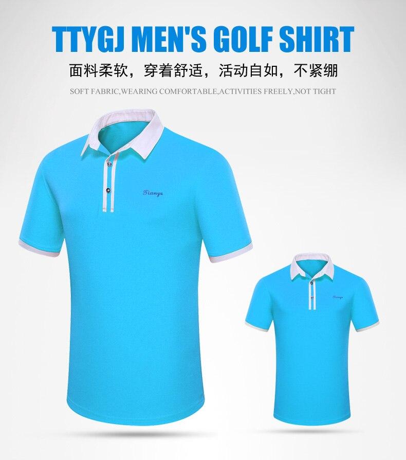 2019 camisa de golfe dos homens do