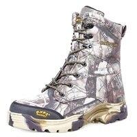 Мужская Охота на Камо ботинки Нескользящие уличные спортивные камуфляжные водонепроницаемые мужские ботинки тактические походные ботинк