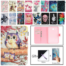 2016 Tab A6 7.0 Case For Samsung Galaxy Tab A 7.0 T280 T285 SM-T280 SM-T285 Case Cover Tablet Fashion Painted Flip Funda Shell case for samsung galaxy tab a a6 7 0 inch 2016 sm t280 t285 7 0cover tablet cover slim stand leather protective case back shell