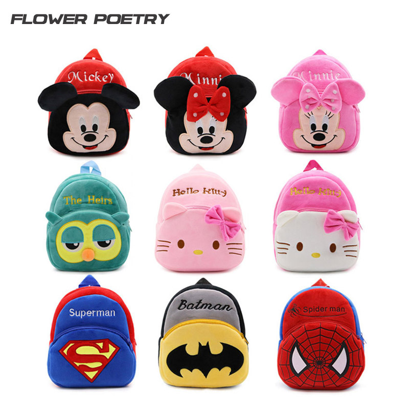 High Quality Children School Bag Plush Cartoon Toy Baby Backpack Boy Gril School Bags Gift For Kids Backpacks mochila escolar high quality cool 3d spiderman cartoon plush school bag fashion cute backpack gift for children mochila infantil hot sale