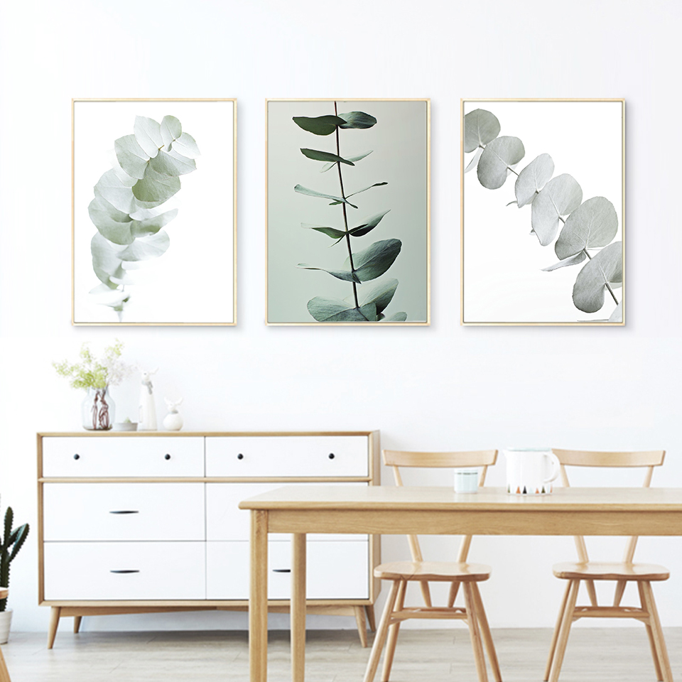 Decor No Body Nordic Inexperienced Eucalyptus Leaves Poster and Prints Easy Vegetation Canvas Portray Wall Footage for Dinner Room Residence Portray & Calligraphy, Low-cost Portray & Calligraphy, Decor No...
