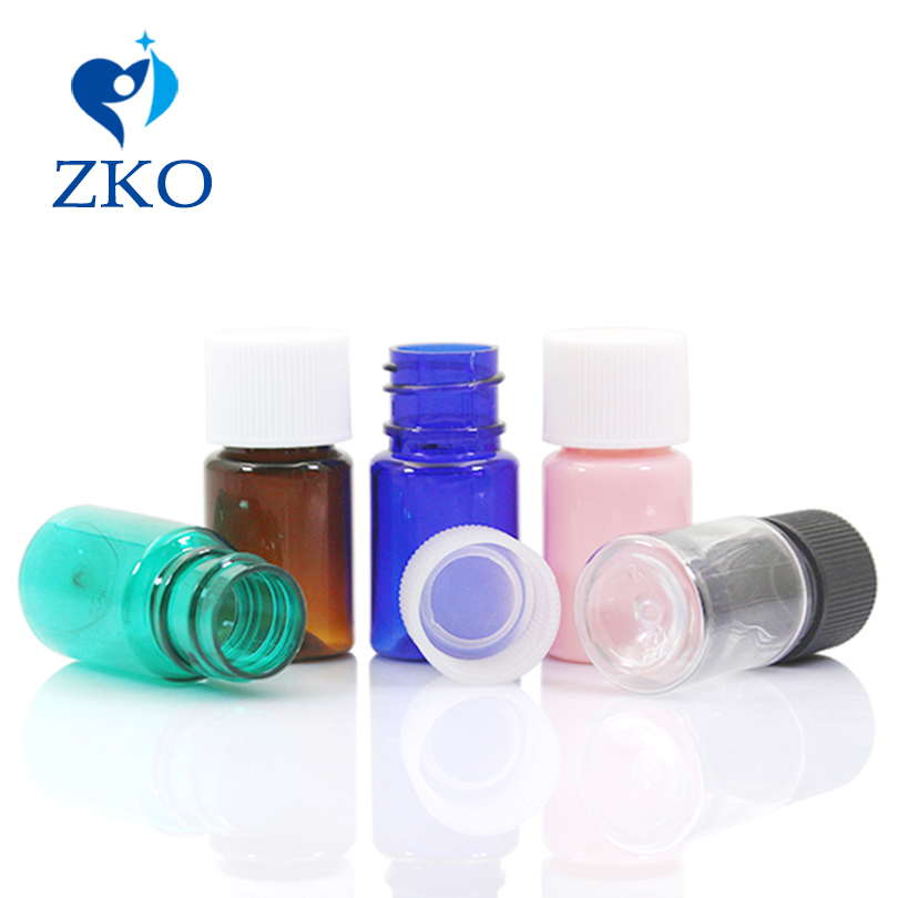 5ml  Plastic Screw Bottle Cap Free Shipping Travel Bottle Refillable Bottle
