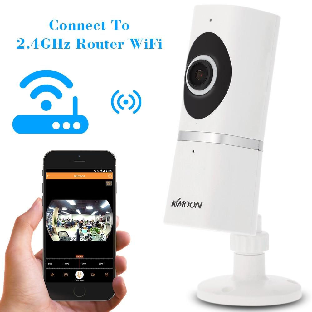 imágenes para KKmoon HD 1080 P WiFi Inalámbrico IP de La Cámara Panorámica de 180 Grados Lente de ojo de pez 1.44mm 2-way Talk Visión Nocturna P2P Apoyo TF tarjeta