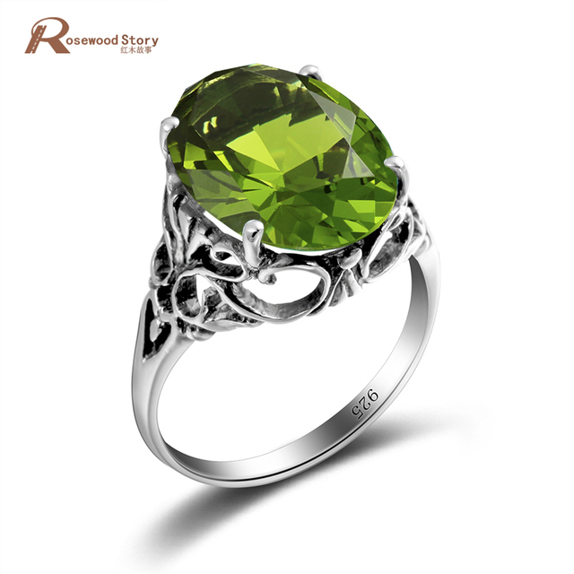 New Brand Ring for Women 925 Solid Sterling Silver Ring Vintage