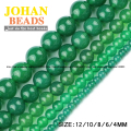 Green agate beads Natural Agate Stone Round Loose beads ball 4/6/8/10/12MM supply handmade Jewelry bracelet necklace making DIY