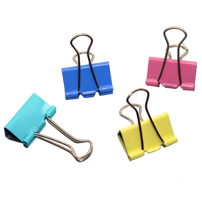 4 Pcs Office Binding Products Color Long Tail Clips 5.4*3.2cm  Photo Clip Holder Notes Letter Paper Clip Office Supplies