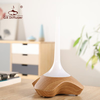 Led Light Portable Mist Maker Aroma Essential Oil Diffuser Ultrasonic Air Humidifier Wooden Aroma Diffuser For