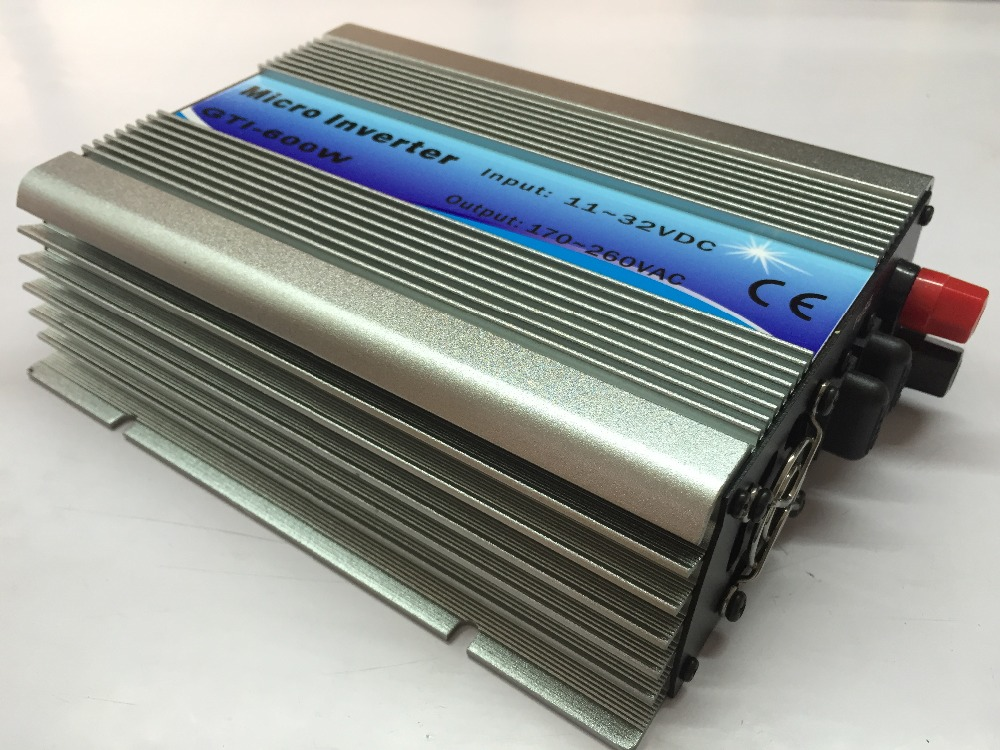 600W On Grid Tie Inverter 18V Panel 36Cells 110V Output DC To AC MPPT Function Pure