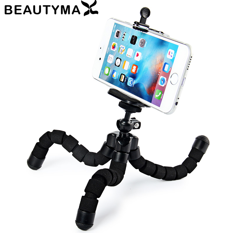 Universal Octopus MINI Tripod Stand Holder Flexible Tripod Holder for iPhone X 8 7 6 6S plus for Samsung Note 8 s8 plus s7 edge pc material protective water resistance phone pouch for iphone 6 6 plus 6s samsung note 5 s6 edge plus etc