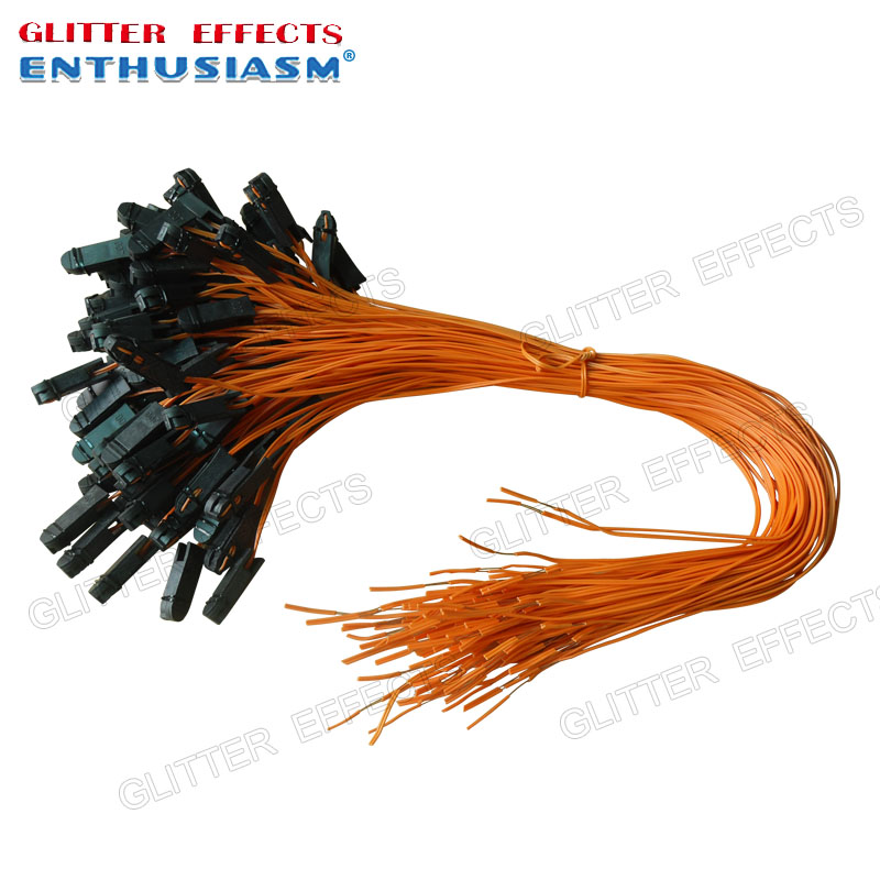 50pcs/lot 50cm Orange Color Talon Ignition Wire For Cold Fountain