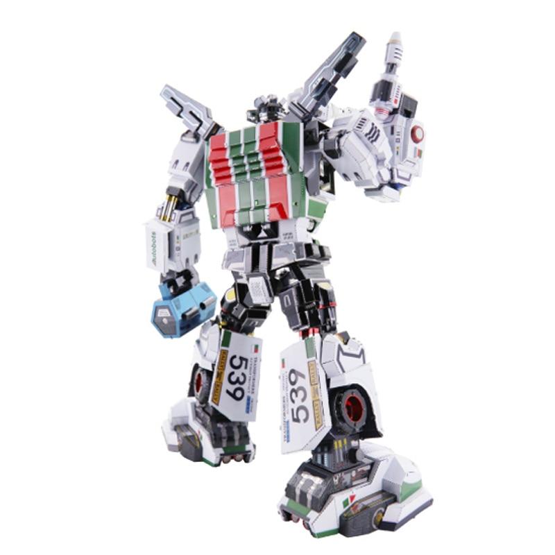 MU Wheeljack G1 3D Metal Model Kits DIY Assemble Puzzle Laser Cut Jigsaw Building Toy YM-L067 for Gift