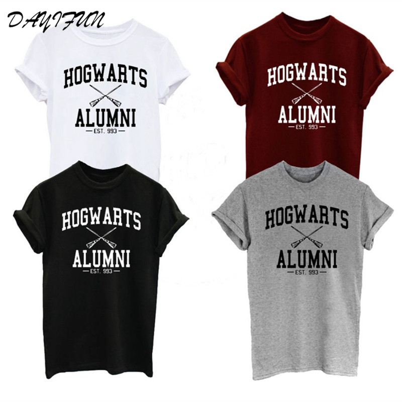 New Fashion Hogwarts Alumni   T     Shirt   2019 Men Women Harry Funny Potter   T  -  shirts   Novelty Design Short Sleeve Cotton Tshirts C3261