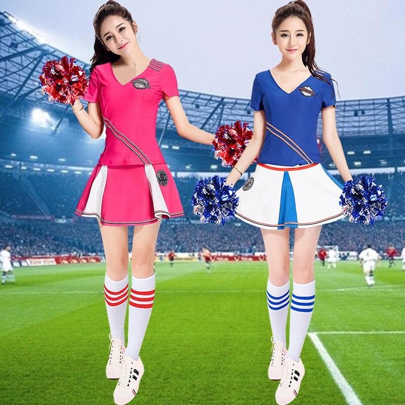 Robe Cheerleading robe femme costume adulte Version uniformes Cheerleading