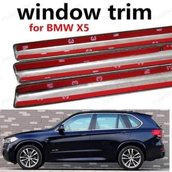 Vendita calda In Acciaio Inox Finestra Trim Strisce Decorazione di Accessori Auto senza colonna Per B-MW X5