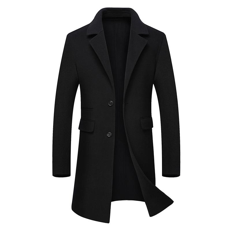 hiver Nouveau Tranchée 2018 D'affaires Laine Style 2 1 100De Hommes breasted Manteau Longue Marque Décontractée Unique Angleterre 3 Automne 0mN8nw