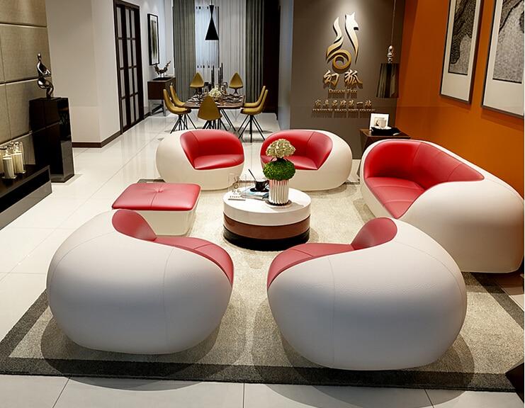 unique modern living room furniture | Unique Leather Sofa Living Room Sofa Set Modern Leather ...