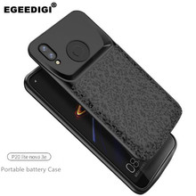 Egeedigi Silicone shockproof Battery Charger Case For Huawei P20 Lite Nova 3e power external charging Case Power Bank Back Cover