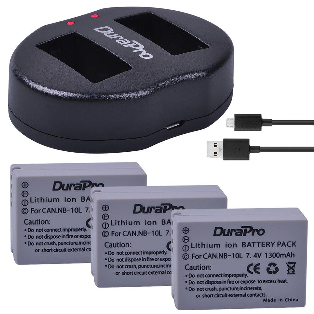 3 шт. 1300 мА/ч, NB 10L NB 10L NB10L Камера Батарея + USB Dual Зарядное устройство для Canon G1X G15 G16 SX40HS SX50HS SX60HS SX40 SX50 SX60 HS