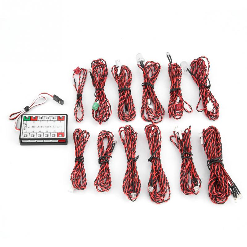 14Pcs/Set Simulated <font><b>LED</b></font> Flashing <font><b>Light</b></font> Lamp System For <font><b>RC</b></font> Aircraft <font><b>Plane</b></font> Glider Bright <font><b>LED</b></font> <font><b>Lights</b></font> High Quality <font><b>RC</b></font> Accessories image