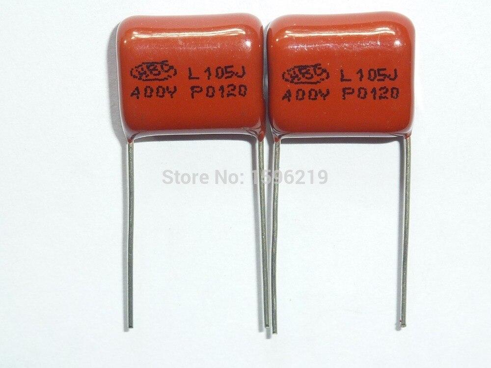 polypropylene film capacitor promotion shop for promotional 100pcs cbb capacitor 105 400v 105j 1uf 1000nf p15 cbb21 metallized polypropylene film capacitor