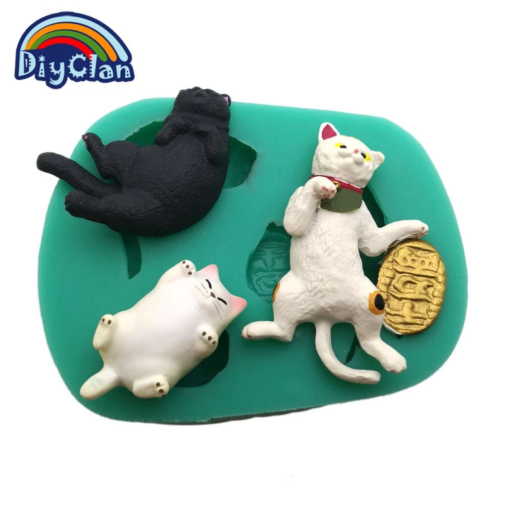 3 gatos estilo molde de silicone para decoração do bolo fondant - Cozinha, sala de jantar e bar - Foto 3