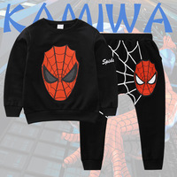 2016 Spiderman Baby Boys Kid SportsWear Outfit Cartoon Suit Summer Kids Boys Clothes Longsleeve Clothing Set