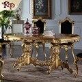 Royal clásico muebles de Trabajo Hecho A Mano mesa de comedor realeza hoja de oro Del Dorado pintura grietas mobiliario clásico europeo