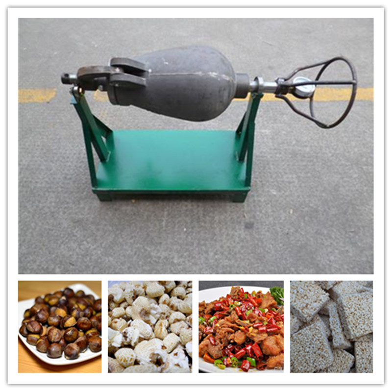 Commercial cannon style popcorn maker dry blasting chicken popping machine