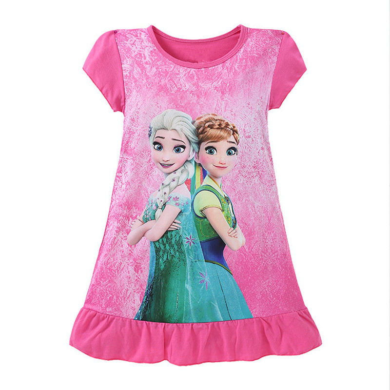 6Colors-Kids-Girls-Summer-Short-Sleeve-Princess-Dress-Cartoon-Character-Printed-Childrens-Casual-Clothes-For-3-10Y-C627-3