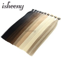 Isheeny 20 24 1g/s Remy Pre bonded Fusion I Tip Hair Pure Color European Human Hair On Capsule 50pcs Stick Keratin Extensions