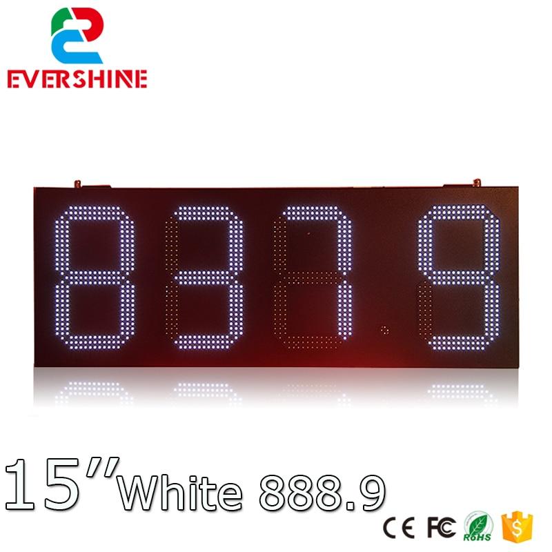 все цены на Gas station LED digital 15'' number price display led sign board white display онлайн