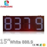 תחנת דלק LED הדיגיטלי 15 ''תצוגת led מחיר מספר סימן לוח תצוגה לבנה-במודולים של LED מתוך פנסים ותאורה באתר