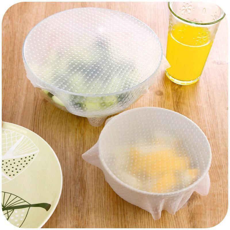 1 pcs 2018 Silicone Food Wrap Reusable  Bags Pouch Cover Home Storage Seal Cover Stretch Fresh Keeping Kitchen Tools