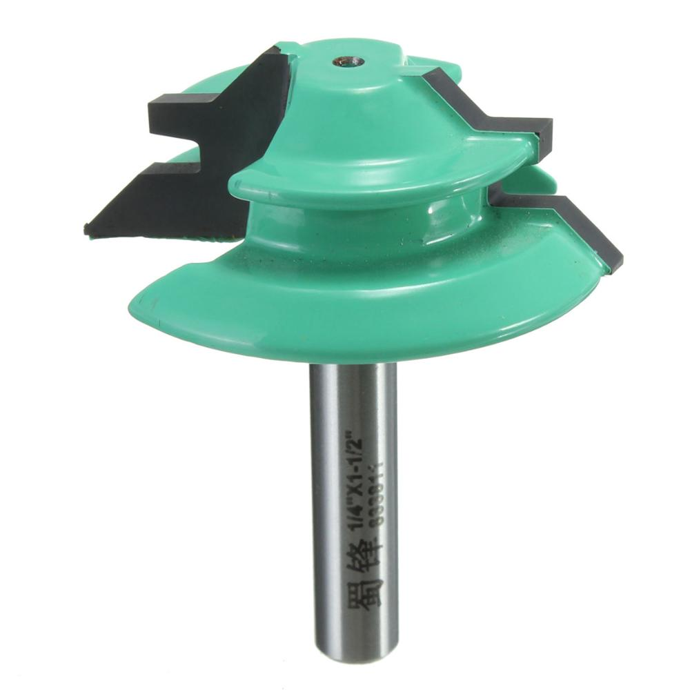1PC 45 Degree Lock Miter Router Bit 1-1/2 Diameter 1/4 Shank Green Wood Cutter for Woodworking Drilling Power Tools виниловая пластинка down nola lp