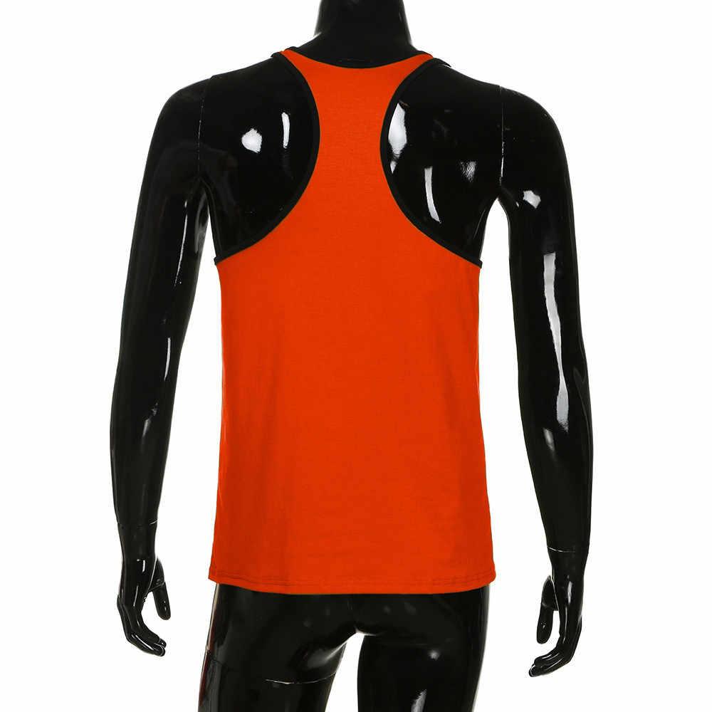 الرجال ملابس كمال أجسام تانك توب سترة راسيرباك القميص الرياضة أكمام رجل الملابس debardeur أوم camiseta de tirantes hombre