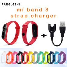 Mi Band 3 Strap Silicon Colorful Strap for Xiaomi Mi Band 3 Smart Bracelet Wristband USB Charger Cable for Xiaomi Miband 3 Strap стоимость