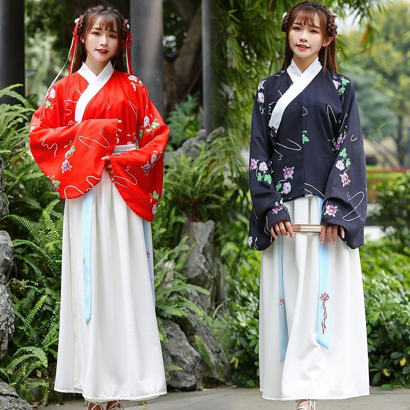 Chinois traditionnel Hanfu femmes Costume Tang dynastie Folk danse tenue princesse Performance vêtements scène danse dame DN3290