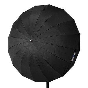 """Image 2 - Selens 51 """"130 cm Parabolischen Tiefe Regenschirm Reflektierende Silber Farbe für Speedlite Studio Flash Indirekte Beleuchtung w/Trage tasche"""