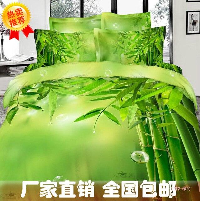 drap housse pour lit king size Bambou impression vert literie douillette reine king size housse  drap housse pour lit king size