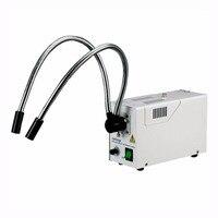 150W Fiber Optic Dual Gooseneck Microscope Illuminator