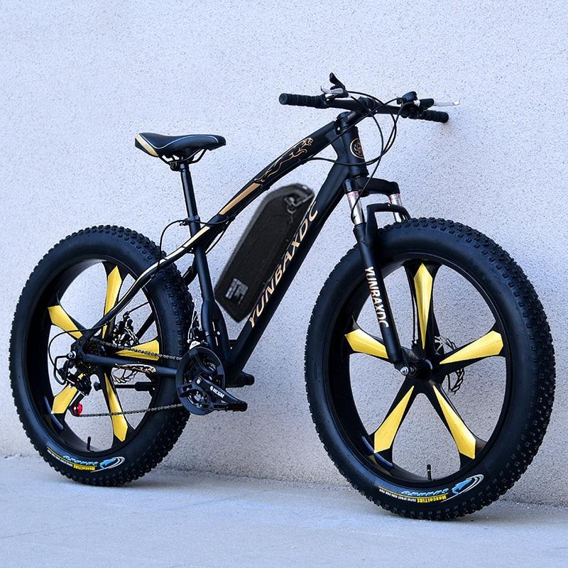 26 zoll schnee elektrische berg fahrrad 48V lithium-batterie 1000w motor fett ebike 4,0 reifen hohe geschwindigkeit bürstenlosen elektrische fahrrad