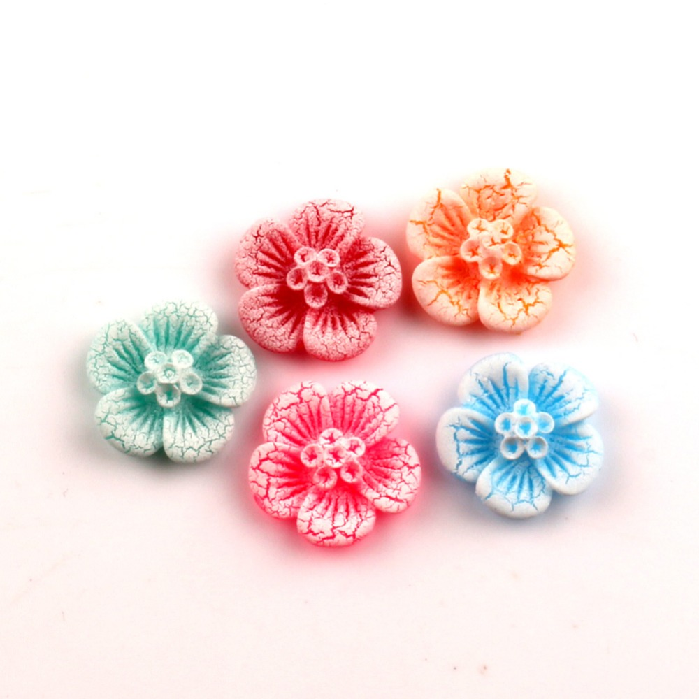 50 шт. смешанный резиновый цветок украшения Kawaii бусины Flatback кабошон украшения для Скрапбукинг DIY интимные аксессуары