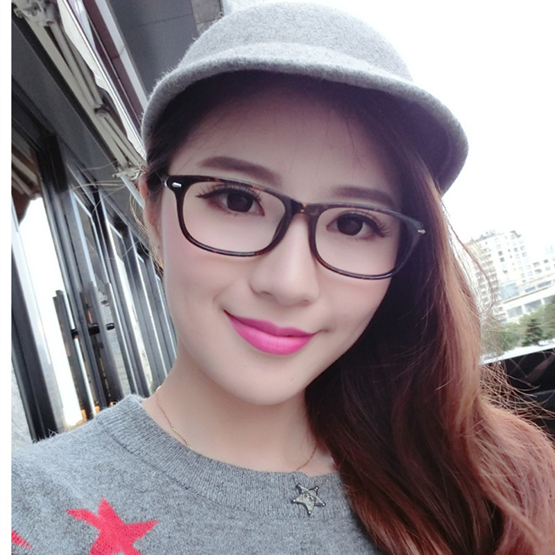 Fashion Women Prevent Radiation Reading Glasses Frame Eyeglasses With Clear Glass For Reading UV400