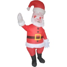 Adults Santa Claus Inflatable Costume Christmas Halloween Blow Up Costume for Women Men Birthday Cosplay Party Outfit Pink Brown все цены
