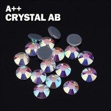 Свободные Австрийские качественные Стразы ss8 2,5 мм горячей фиксации кристалл AB с 1440 шт./упак.; для дизайна ногтей, мужской ремень, джинсы, сумка