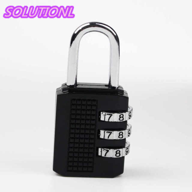 d7322c54f137 US $1.76 |Portable 3 Digit Resettable Combination Padlock Coded Lock School  Gym Locker Sheds,Luggage locks for bags-in Locks from Home Improvement on  ...
