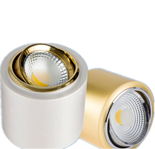 Free Shipping New Arrival 10W/15W COB Surface Mounted LED Downlights Gold/Silver Housing Color Led down lamp AC85-265V CE/ROHS