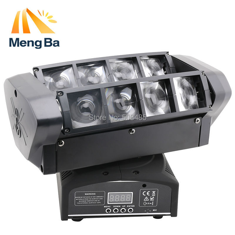 2pcs LED  8*10w RGBW CREE Beam Light 8 Eyes Mini Spider Light DMX512 Moving Head Light DJ/Fest/Home / Bar /Stage /Party niugul dmx stage light mini 10w led spot moving head light led patterns lamp dj disco lighting 10w led gobo lights chandelier