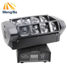 2pcs LED 8*10w RGBW CREE Beam Light 8 Eyes Mini Spider Light DMX512 Moving Head Light DJ/Fest/Home / Bar /Stage /Party(China)
